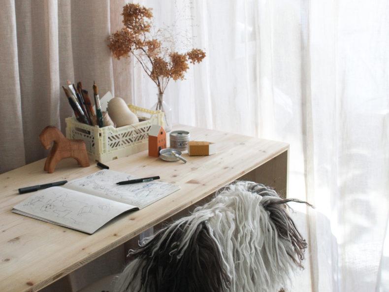 AY-KASA MINI CREAM desk