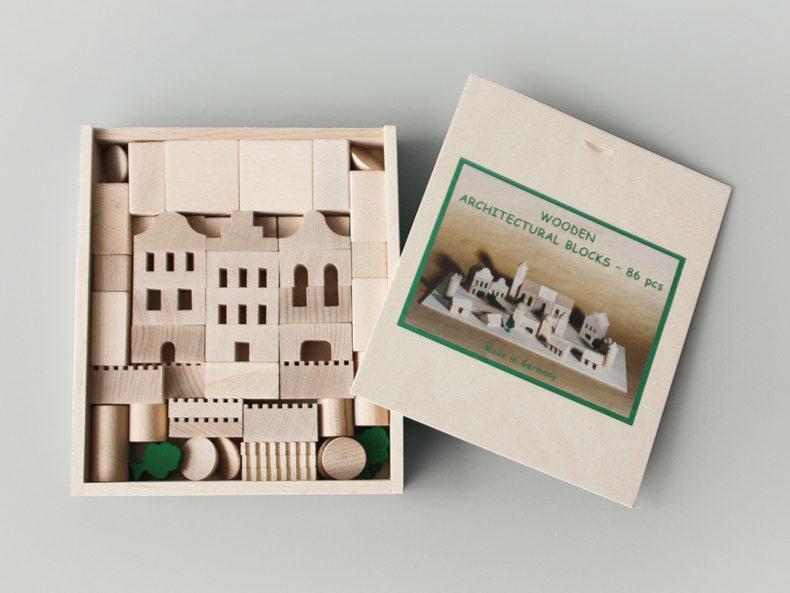 Architekturbaukasten, 86 Teile