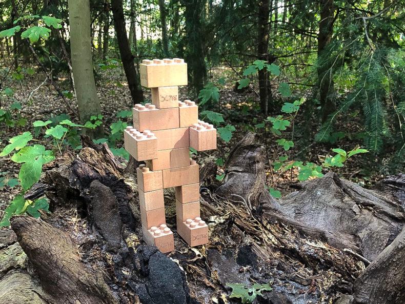 Bausteine-Holz-Kinder