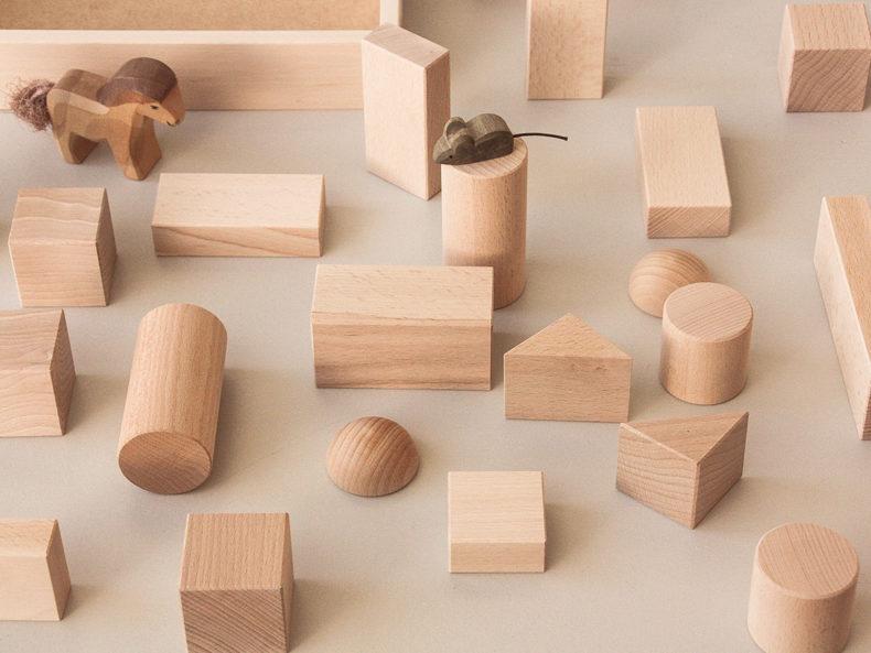 Blumenauer-Holzbausteine Baukasten 22 Teile