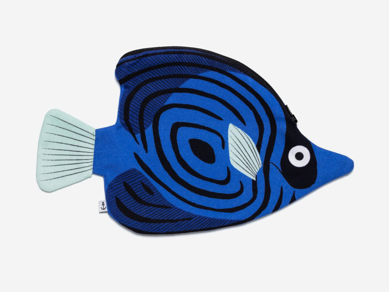 DON FISHER Blue Butterfly fish