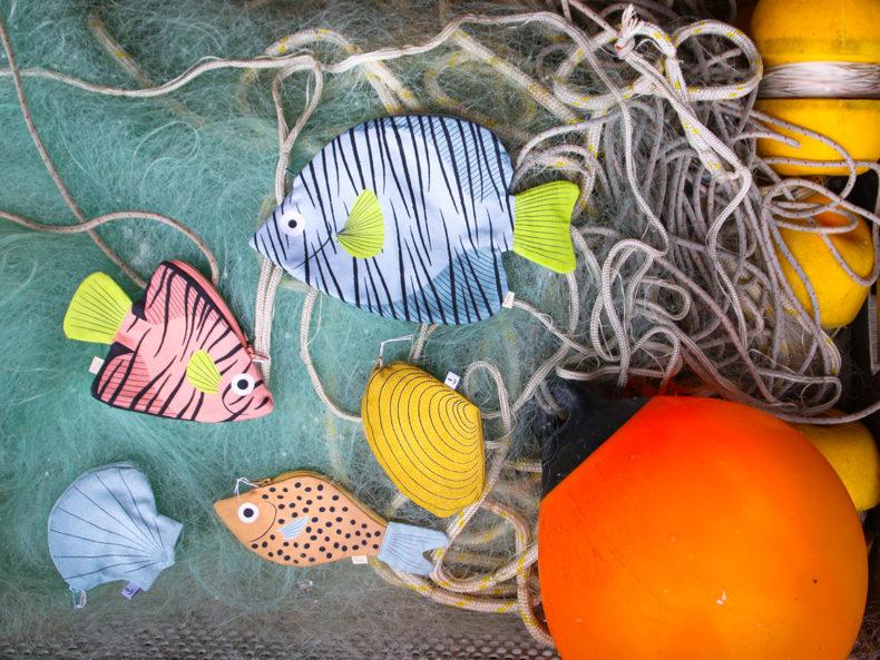 DON FISHER Clam Muschel Täschchen