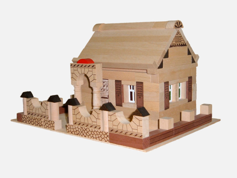 Holzbaukasten Noblesse Haus 150 Teile