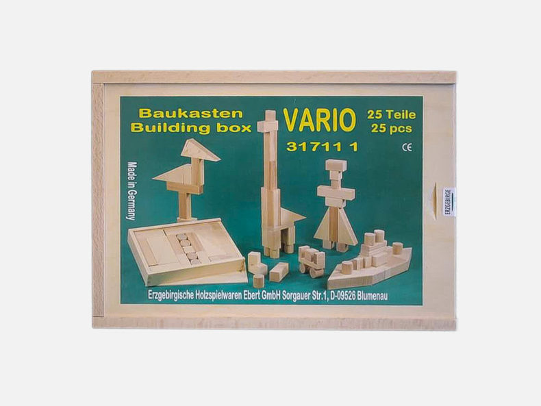 Holzbaukasten VARIO 25 Teile