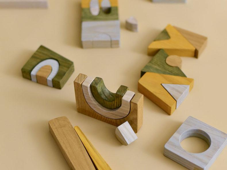 Holzbausteine Puzzle MINMIN