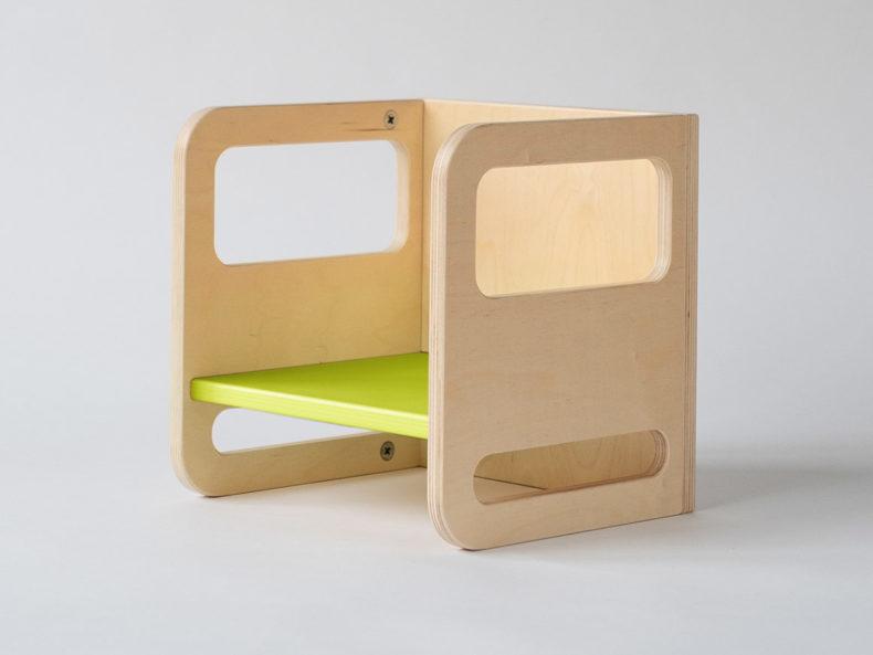 lindgrün Kinderstuhl