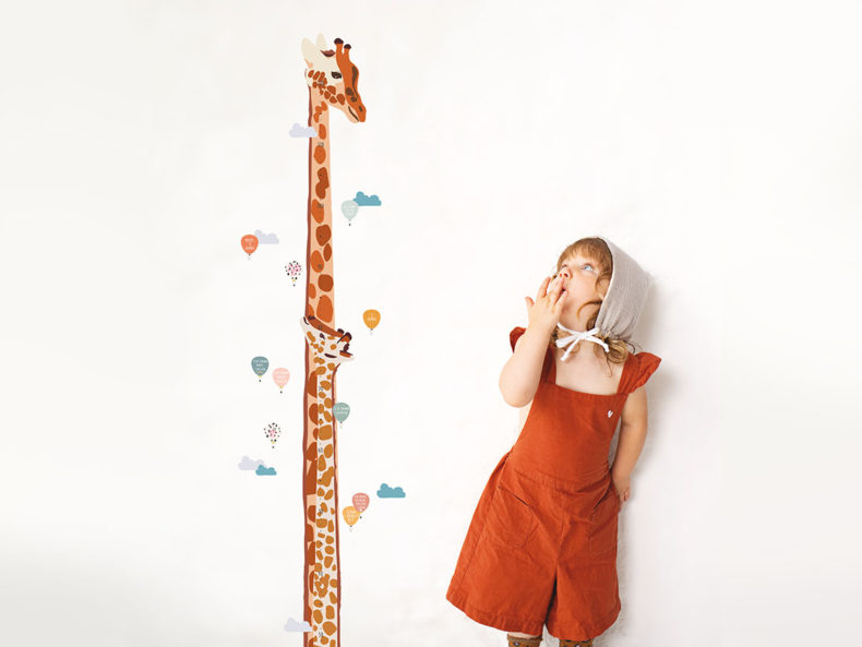 Kinder-Messlatte-Giraffe