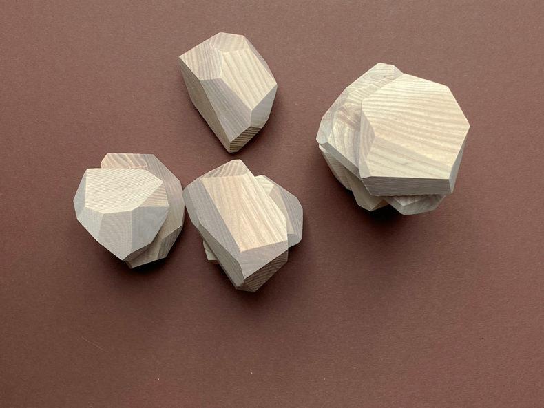 Natur Holzsteine Bauspiel Pikler