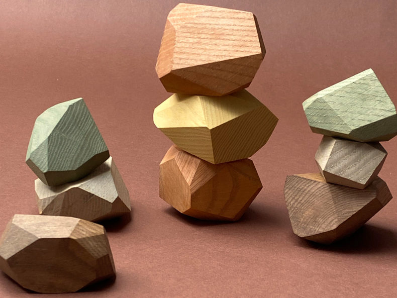 Balancing stones earthy colors