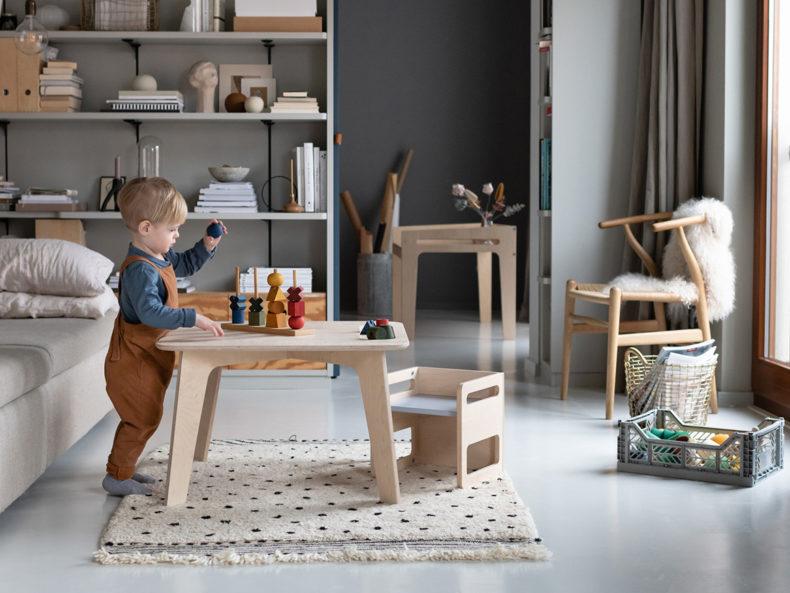 Montessori Kindertisch Holz