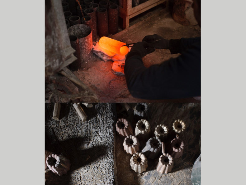 OVO Things Kerzenhalter Canele Bronzeguss