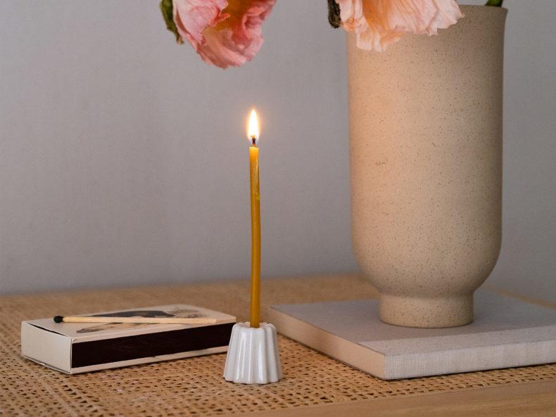 Canele Porzellan Kerzenhalter OVO Things