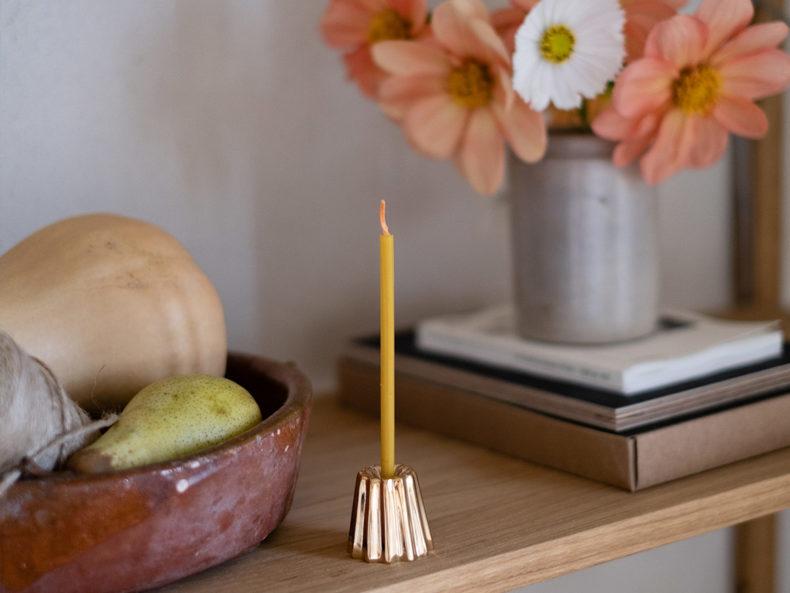 OVO Things Kerzenhalter Canele Bronze
