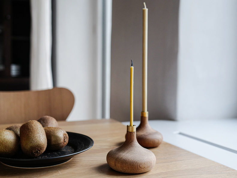 OVO Things Oak Candle holder_Dinner Candles_Birthday Candles