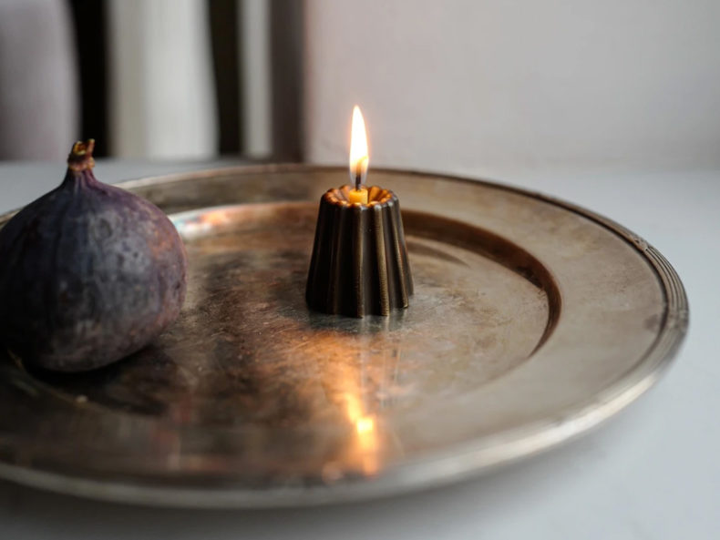 OVO Things Kerzenhalter Canele Bronze dark