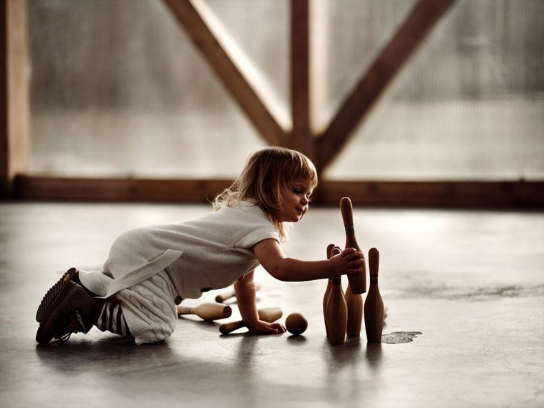 BOWLING-Set-Holz