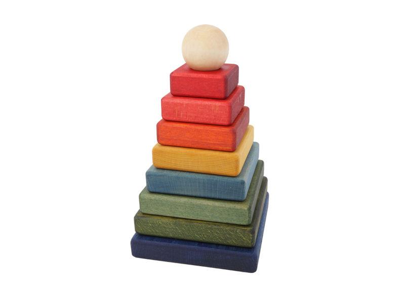 Stapelpyramide Regenbogen WOODEN STORY