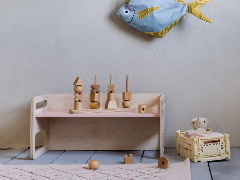 WOODEN STORY STACKING TOY XL Natur filipok