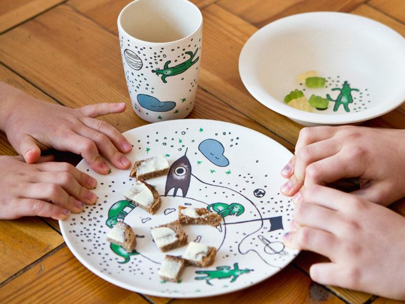 Geschirr Kinder Bambus