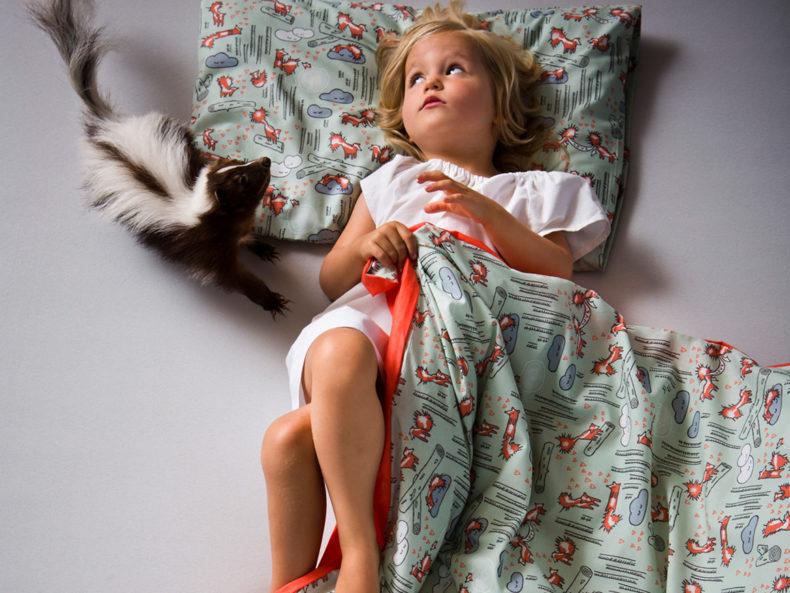chön oder? Kinderbettwäsche Stinktiere