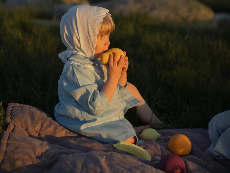fruits raduga grez Holzspielzeug