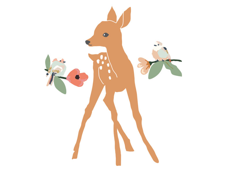 MIMI'lou Wandsticker Just a touch - Biche