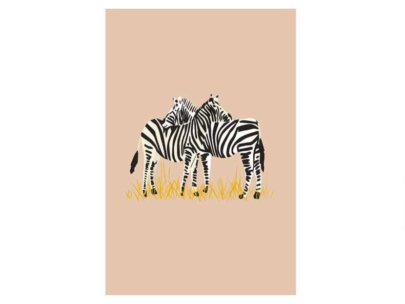 Poster Zebra Kinderzimmer kaufen