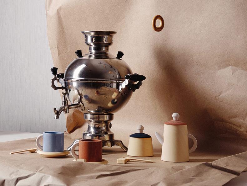 Raduga Grez tea set terracotta Holzspielzeug Berlin